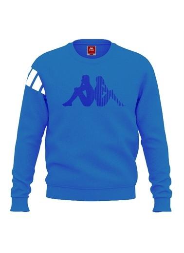 Kappa Baskılı Sw-Shirt Chaber  Mavi